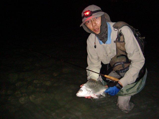 Grunter at night, caught by Leng Chua