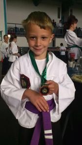 Logan with another gold!