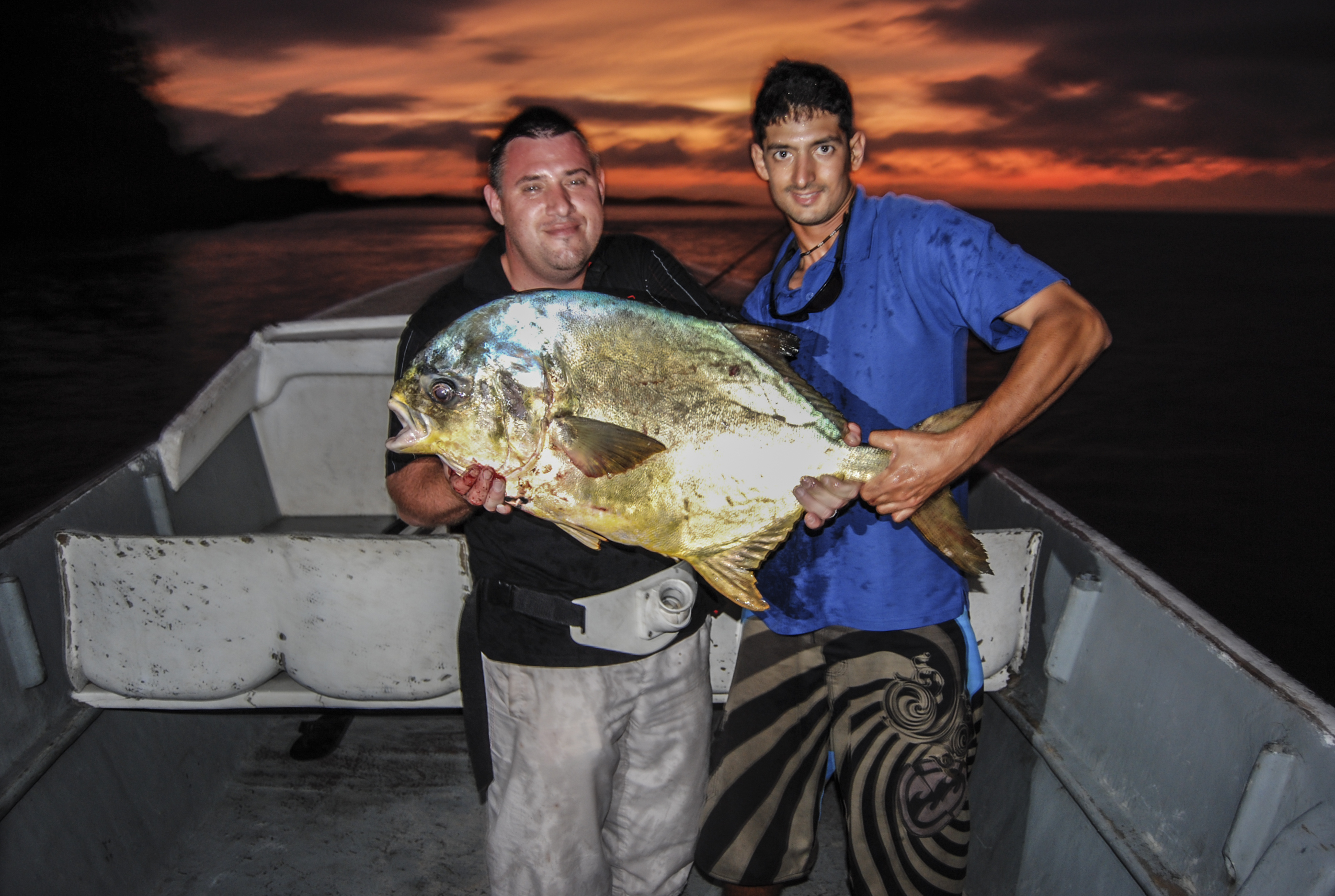 Fabien and client with a West African Permit