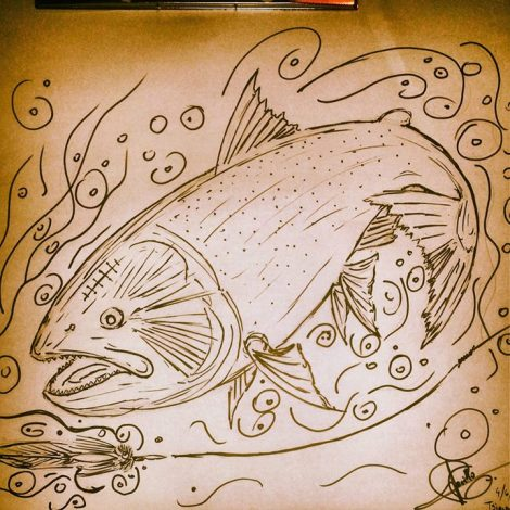 Guido has a little bit of a Dorado obsession, understandably. One of his doodles.