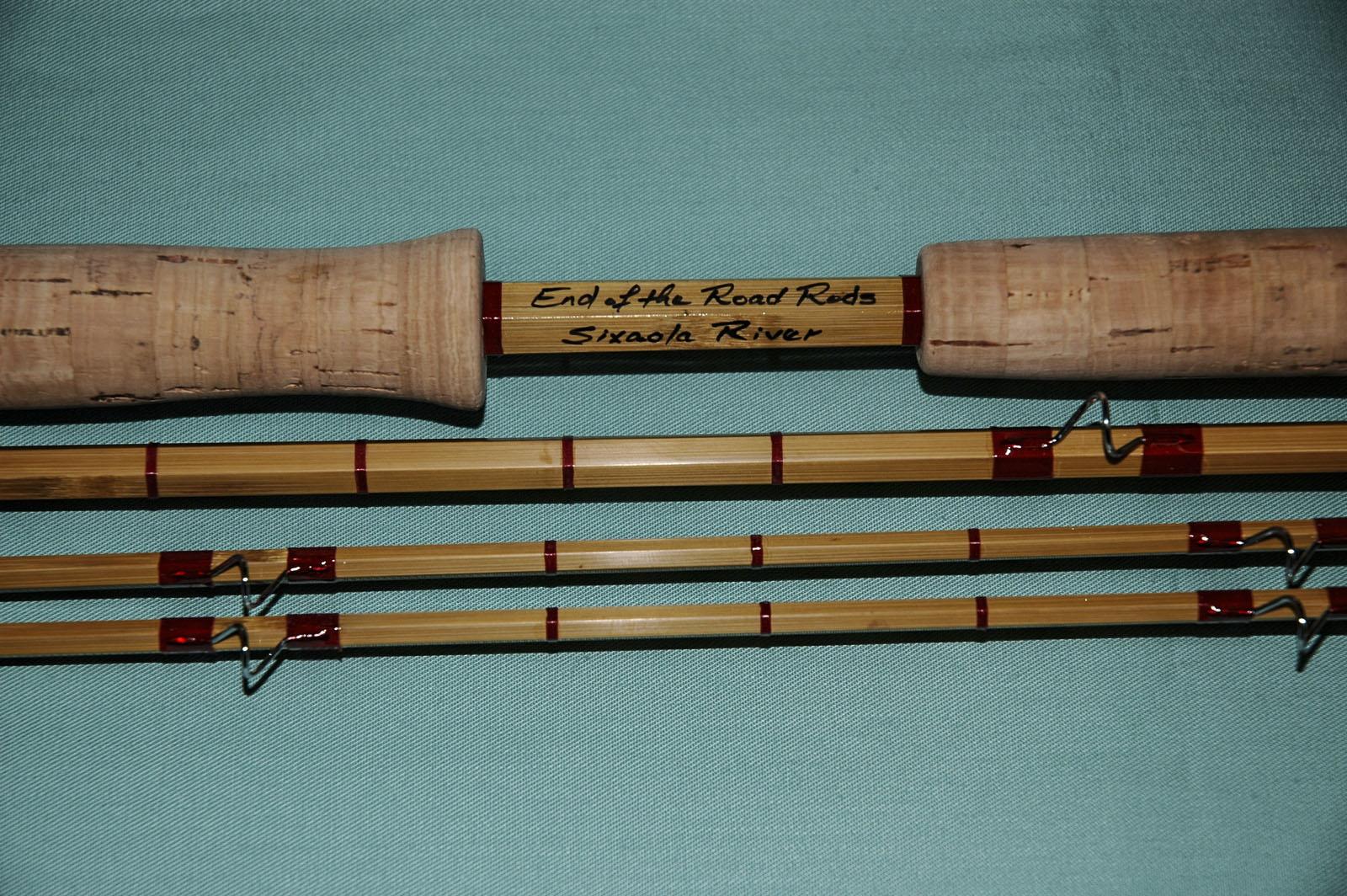 custom graphite, glass fibre, bamboo and split cane fly rods