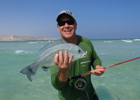 Mark with a nice bream - pretty sure thats the one we ate!