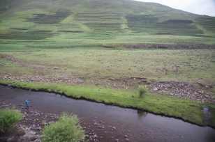 fly fishing for trout in lesotho highlands