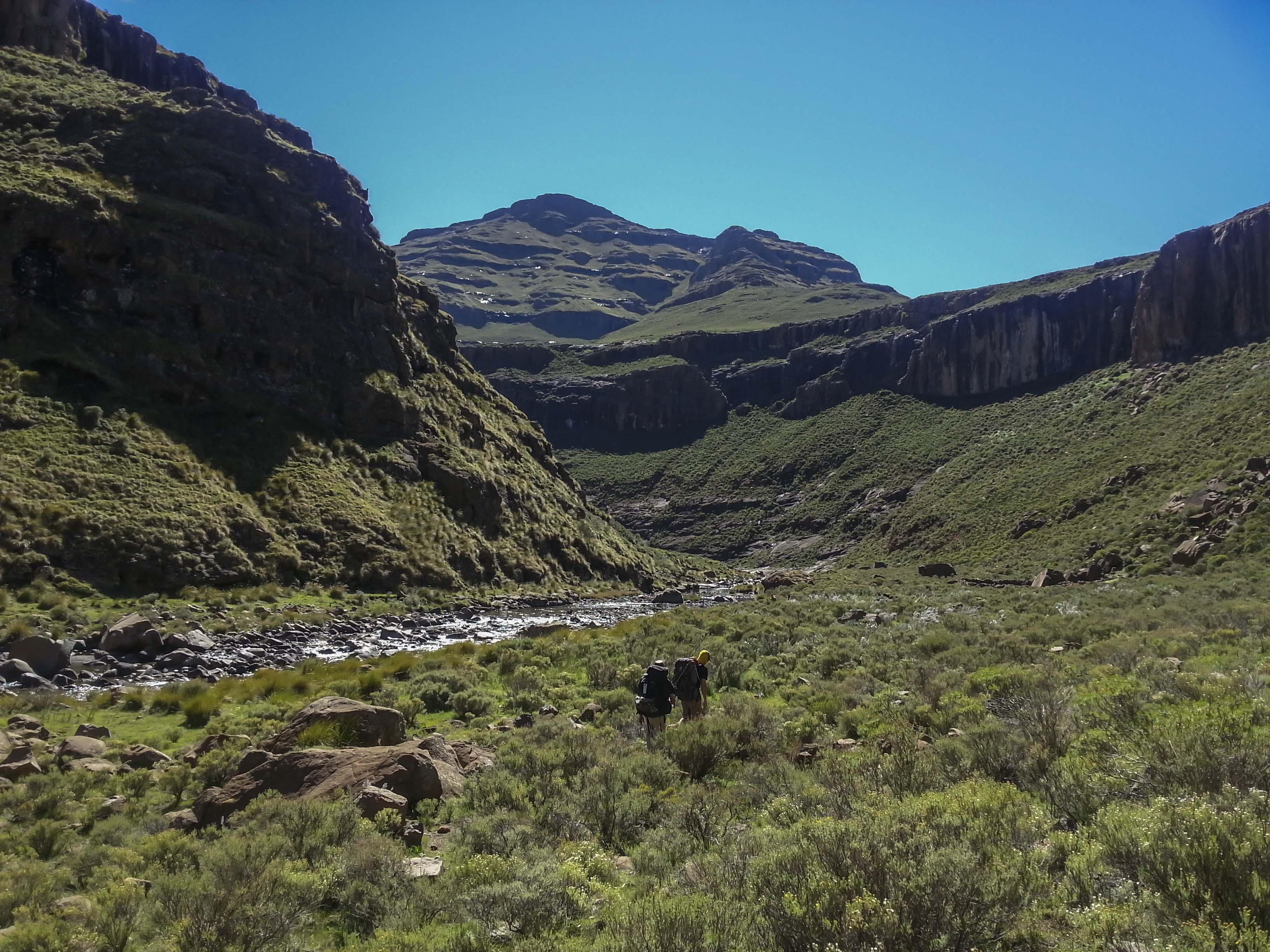 Heading further into the mountains. Photo: Rex Fey