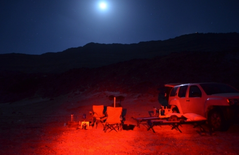 camp under the full moon.