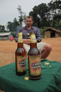 Enjoying beers after a timeless exploratory fishing trip in Africa