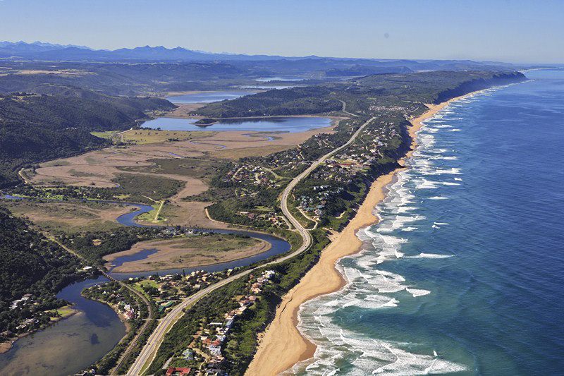 The Touws River at Wilderness stretching to The Lakes region (Island Lake, Langevlei, Rondevlei and Swartvlei in the distance) of the Southern Cape. Not to mention all those potential Kob holes along the beach!