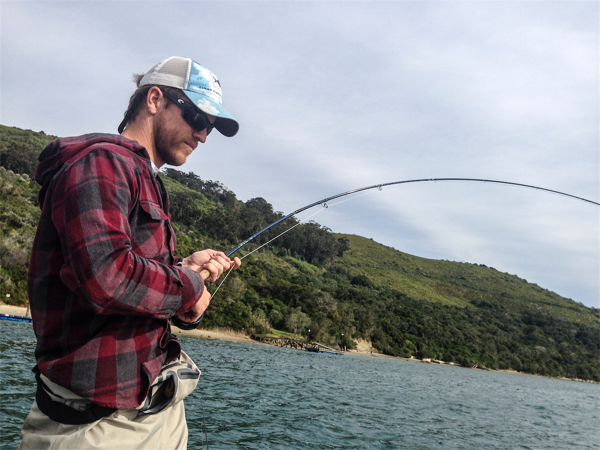Watching your rod bend - a great way to spend the day.