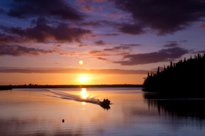 Heading back in last light, Yukon River