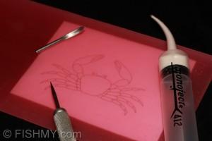 Latex-crab-step-01-300x200