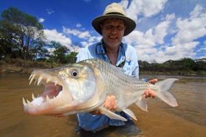 A big tigerfish caught by Grant Dunbar in the Ruhudji River