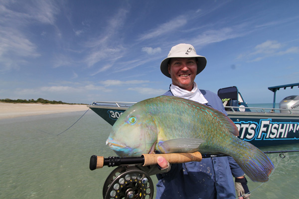 Colourful-parrotfish-on-fly