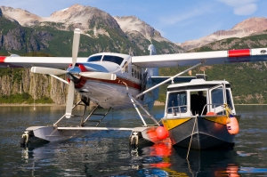 The Wheeled Beaver docked in Bristol Bay