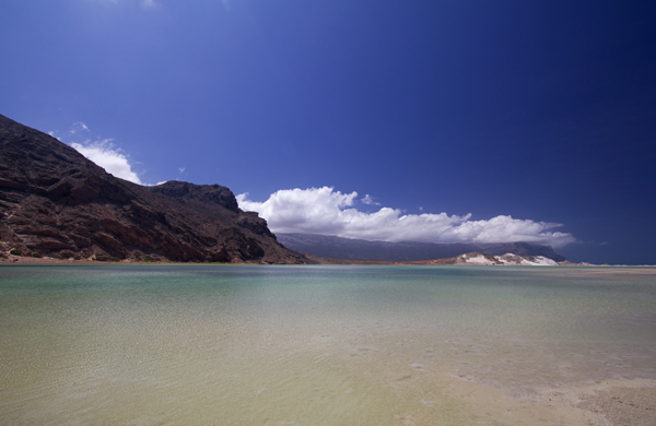 The lagoon behind the beach at Socotra